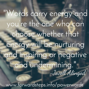 Power Words quotation image