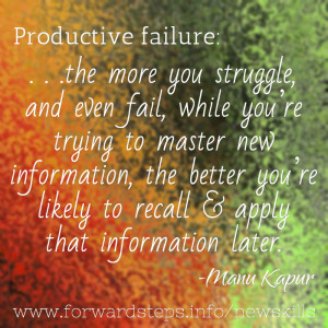 Acquiring New Skills - Productive Failure quote image