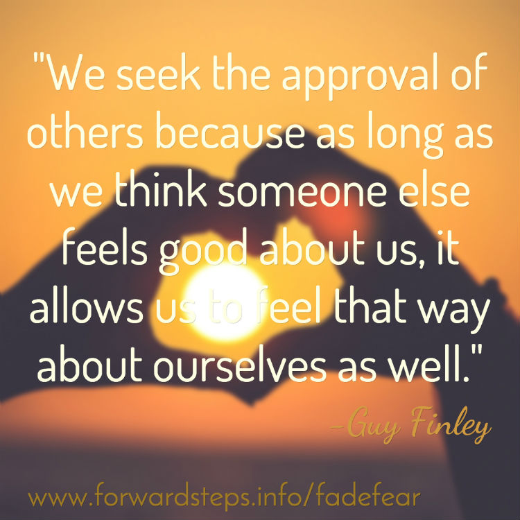 Fear of being no one - Approval of others quote image