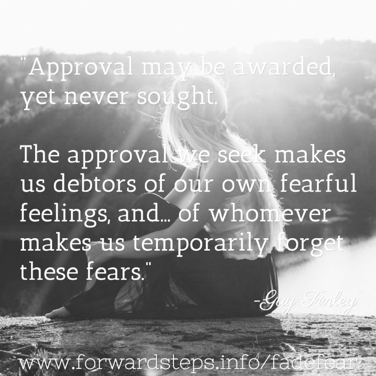 Fear of being no one - Approval sought quote image