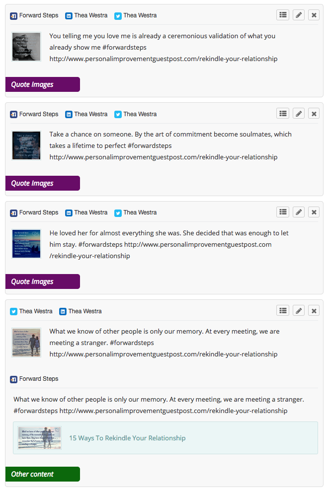 Publish self help content